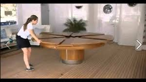 Round Dining Room Tables For 8 Expandable Round Dining Table Youtube