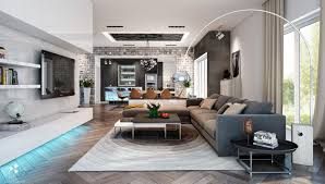 Spacious Living Room Awesomely Stylish Urban Rooms House Plan Home Interior  Design