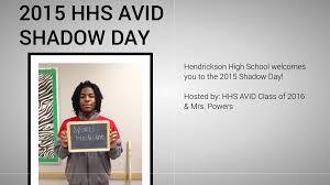 Shadow Day AVID 2015