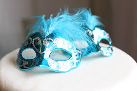Miniature Masquerade Masks Decorations Miniature Mini Masquerade Masks Turquoise Cake Topper Cupcake 35