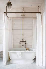 Diy Shower Design A Diy Shower Curtain Hoop Made From Brass Pipes By Zio Sons