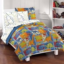 toddler boy bedding sets dream factory dinosaur blocks 7 piece bed in a bag with sheet