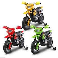 kids 6v electric mini scrambler dirt bike motorbike ride on