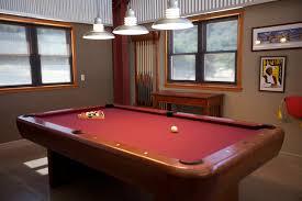 billiard pendant lighting and galvanized barn pendants shine on family pool table fun blog with ivanhoe