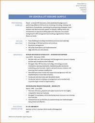 Hr Generalist Resume Format Resume Format For Experienced Hr Professionals Lovely Hr Generalist 24