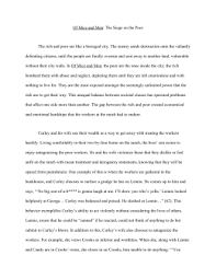 feedback from the of mice and men essay on social injustice  row of mice and men essay docx