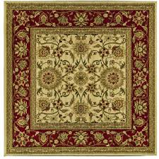safavieh lyndhurst ivory and red square indoor machine made area rug common 6