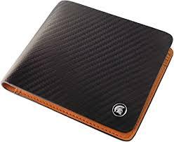 POWR <b>Mens Wallet Genuine</b> Leather, RFID Blocking Carbon Fibre ...