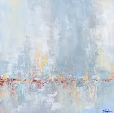 morning s quiet abstract palette knife painting