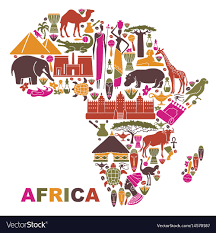 Traditional Symbols Traditional Symbols Of Africa In The Form Of A Map
