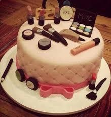 mac makeup cake via makeup birthday cake
