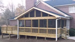 how to build a raised deck over
