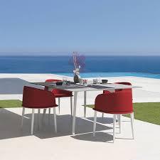 outdoor furniture white. Cleo Contemporary Aluminium Garden Dining Furniture Outdoor White