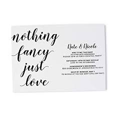 wedding reception card amazon com casual wedding party invitation card simple wedding