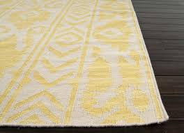 soft flat weave wool rug outdoor history rugs tribal pattern gold and yellow handmade