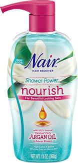 hair removal spray with moroccan argan