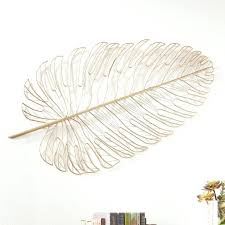 hanging metal feather wall diy decor