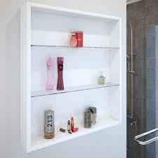 patello white glass shelf wall storage