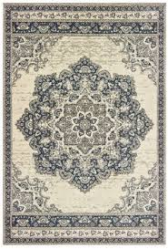 oriental weavers richmond 5504i ivory navy area rug