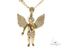 angel pendant chain set 58410 mens