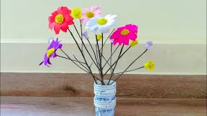 Paper Flower Branches Room Decor Twigs Crafts Paper Flower Decoration With Twigs Tree