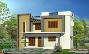 Simple Flat Roof Home Architecture Kerala Home Design Bloglovin Inexpensive Flat  Roof Home Designs