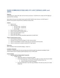 Atc Light A Task Radio Communications And Atc Light Signals