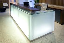 glass reception desk frosted design