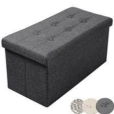 ottoman storage box. Simple Box Woltu Blanket Box Fabric Ottoman Storage Toy Stool 30x15x15 Inch  Dark Gray Intended T