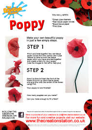 Make A Paper Poppy Flower Keeping Their Memory Alive The Creation Station