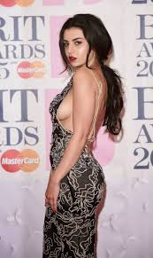 Charli XCX Braless See Through Dress And Side Boobs Photos At The.