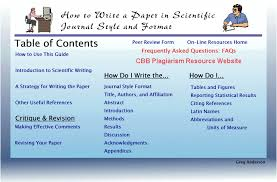 scientific journal style and format