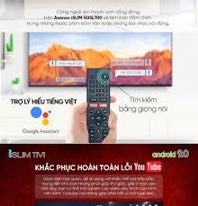 Smart Tivi Asanzo 50SL700 iSLIM 4K 50 inch [New 2020]Miễn Phí 2 Tháng  VTVcab ON VIP Hệ Điều Hành Android 9.0Công nghệ HDR Khắc Phục Lỗi Youtube  [Miễn Phí 12 Tháng Clip