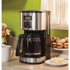 Automatic shutoff provides peace of mind. Hamilton Beach 12 Cup Black Programmable Coffee Maker With Automatic Shut Off 49618 The Home Depot