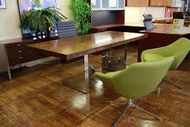 vintage rosewood chrome roger sprunger dunbar executive desk credenza