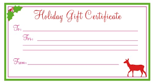 Certificates Surprising Christmas Gift Certificate Template