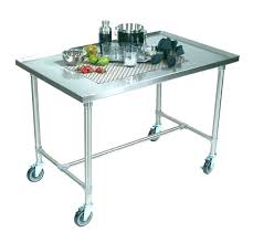 stainless steel utility tables for cart with wheels work table large size of decorating s