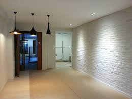 brick wall lighting. brick wall from entrance to end lighting