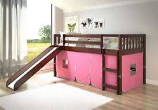 bunk bed with slide and tent. Bunk Bed Slide \u0026 Pink Tent With And