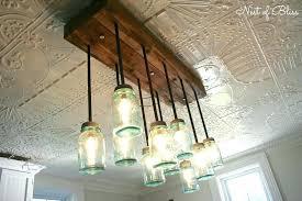 jar chandelier how to make