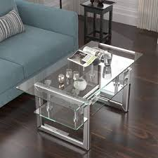 A universal combination of brass bassett mirror co 2 piece patinoire coffee table set 1 bassett mirror co. Wayfair Chrome Coffee Tables You Ll Love In 2021