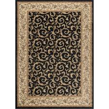 8 x 10 large ivory gold and black area rug elegance rc willey furniture