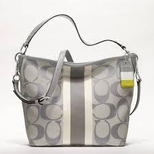 LiTTLE-KiOSK  Coach Hamptons Weekend Signature Stripe Shoulder Bag ...
