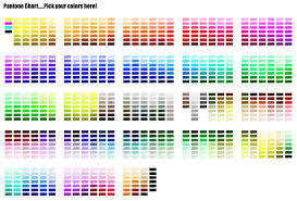 Free Pantone Chart Bulk Promotional Products Color Match