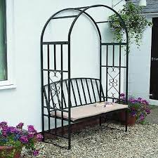 gr8 garden metal steel black rose arch