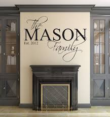 family name wall decal custom personalized decals on diy room decor