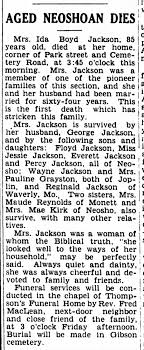 Ida Boyd Jackson (wife of George) obit May 1946 - Newspapers.com