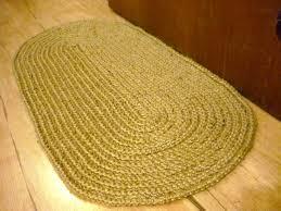 crochet oval rag rug