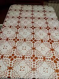 square tablecloth motif lace free crochet pattern
