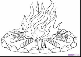 Small Picture astonishing campfire coloring pages with fire coloring page